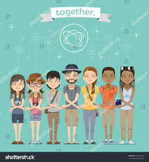 live together harmony friend worlddifference nationality live together stock
