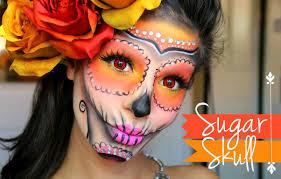 sugar skull makeup halloween tutorial youtube