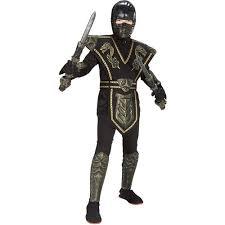 Boys Halloween Costumes Walmart Gold Dragon Warrior Ninja Child Halloween Costume Walmart