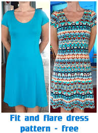 dress pattern fit and flare fit and flare dress free pattern so sew easy