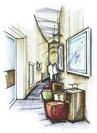 Interior Sketch by I Rendering Architectural Rendering Perspective Design Art