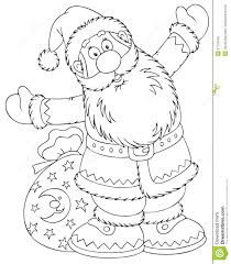 santa claus with a toy sack stock illustration image 21103549