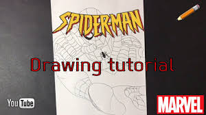 draw marvel superheroes spider man draw spiderman