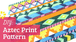 diy aztec print pattern sea lemon youtube