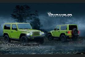 jeep dark green 2018 jeep wrangler jl to get 368hp turbo four according to