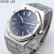 mens watches with bracelet images Peter lee mens watches top brand luxury full steel bracelet jpg