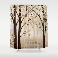 Brown Bathroom Accessories by Art Shower Curtain Brown Beige Cream Abstract Curtain Tree Shower