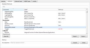 keyboard shortcuts qt creator manual