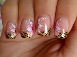 diseño para uñas cortas flores y animal print flower animal