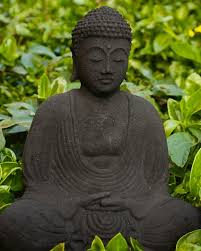 lava garden buddha statue in meditation pose the buddha garden