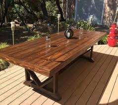 wood outdoor dining table u2013 rhawker design