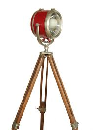 Retro Floor Lamps Vintage Tripod Mounted Boat House Light At 1stdibs