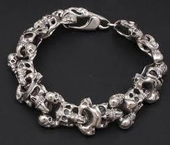 bracelet skull silver images Huge heavy tribal skull 925 sterling silver mens rocker biker jpeg