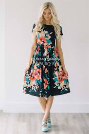 best place to buy bridesmaid dresses black tropical floral pocket dress best place to buy modest