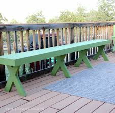Outdoor Wooden Bench Plans To Build by Ana White Featuring Pink When Outdoor Patio Bench Diy Projects