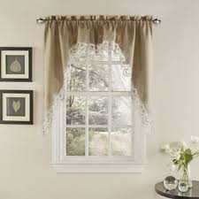 Double Swag Shower Curtain With Valance Buy Swag Curtain From Bed Bath U0026 Beyond