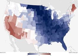 Us Climate Map Climate Conditions March 2013 Difference From Average Temperature