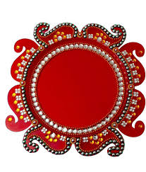 creative home decor round acrylic thali buy creative home decor