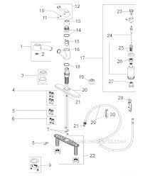 delta saxony kitchen faucet delta faucet 473 rb dst parts list and diagram ereplacementparts