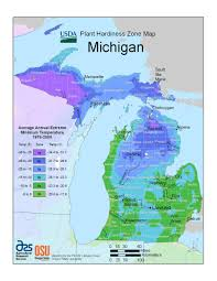 Maps Of Michigan by State Maps Of Usda Plant Hardiness Zones