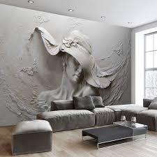 Gray Wallpaper Bedroom - aliexpress com buy custom wallpaper 3d stereoscopic embossed