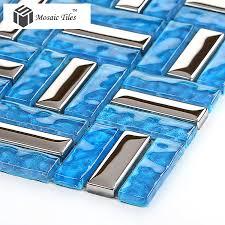 Blue Glass Tile Bathroom - crystal glass tiles glass blue glass tile bathroom home deco art