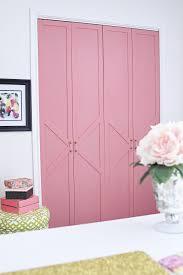 Closet Doors Diy Diy Coral Glam Bi Fold Closet Door Makeover Tutorial