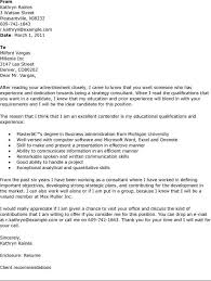 consulting sample cover letter