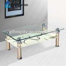 Glass Table Ls Ls 1043 Low Price Tempered Glass Cofee Table Series Center Table