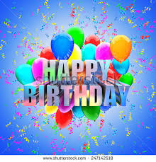 birthday balloons birthday balloons 3d image wallpaper stock illustration 247142518