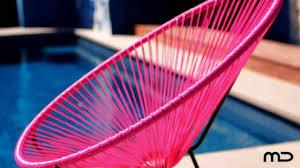 Acapulco Outdoor Chair Acapulco Chair Replica Outdoor Wicker Pink Milan Direct