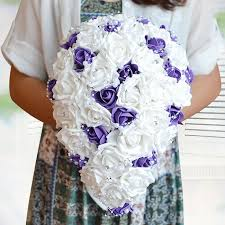 Popular Bridal Bouquet Flowers - compare prices on cascade bridal bouquet online shopping buy low