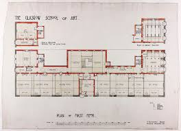 design for glasgow of art plan of first floor gsa archives