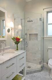 cultured marble shower pan bathroom transitional with bar pulls