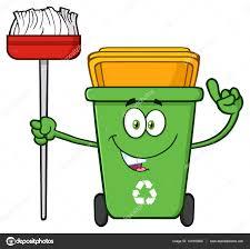 imagenes animadas sobre el reciclaje hablando de dibujos animados de bin de reciclaje verde archivo