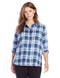 dickies women u0027s plus size long sleeve plaid flannel shirt at
