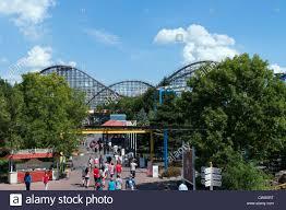 Theme Park Six Flags La Ronde A Six Flags Amusement Theme Park Montreal Canada Stock