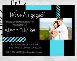 engagement announcement cards wedding announcement etsy
