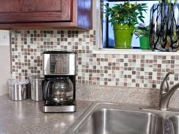 interior self adhesive backsplash tiles hgtv adhesive tile