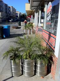 Restaurant Patio Planters by Beer Barrel Planter Burrito Justice