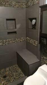 Bali Ocean Stacked Pebble Tile Shower Border And Backsplash - Pebble backsplash