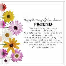 happy birthday my dear special friend