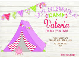 camping party invitations whimsical printables shop all