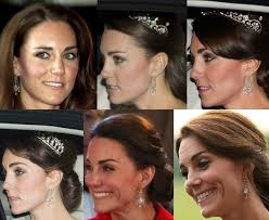 kate middleton diamond earrings kate middleton s jewelry loans from elizabeth kate