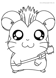 hamtaro color page coloring pages for kids cartoon characters