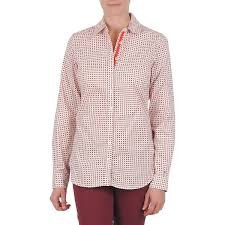 siege hilfiger femme tops chemises hilfiger caryn orange hilfiger