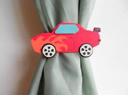 Curtain Tie Backs For Nursery Sports Car Curtain Tie Backs Little Boys Sports Room Nursery