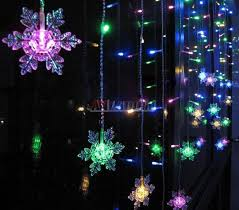 snowflake lights snowflake curtains 104 led lights anladdin