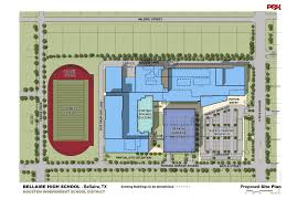 Construction Site Plan Construction On New Bellaire Hs To Start Next Summer News Blog