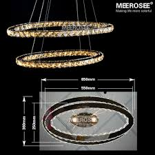 Stainless Steel Pendant Light Fittings Oval Led Dinning Pendant Light Fixture Modern Crystal Lustre Led